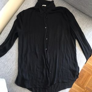 Aritizia wilfred black blouse